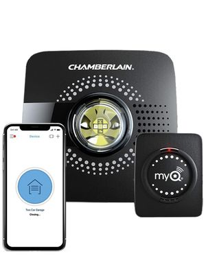 MyQ Smart Garage Door Opener Chamberlain MYQ-G0301 - Wireless & Wi-Fi enabled Garage Hub with Smartphone Control, 1 Pack, Black for Sale in Lewisville, TX