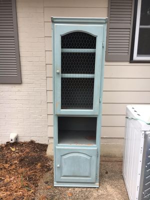 Shabby Chic Curio China Cabinet for Sale in Durham, NC