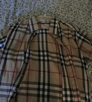 Burberry long shirt size XL in men's for Sale in Hyattsville, MD