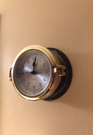 Porthole clock antique for Sale in Marietta, GA
