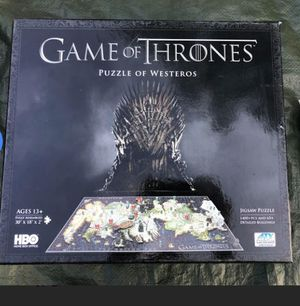 Game of Thrones Puzzle for Sale in National Park, NJ