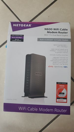 N600 WIFI CABLE MODEM ROUTER for Sale in Homestead, FL