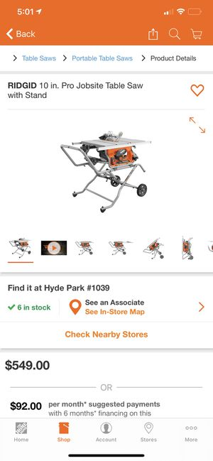 Ridgid 10 in pro jobsite table saw with stand new for Sale in Los Angeles, CA