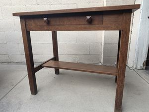 Antique Oak Arts & Crafts Library Table for Sale in Los Angeles, CA