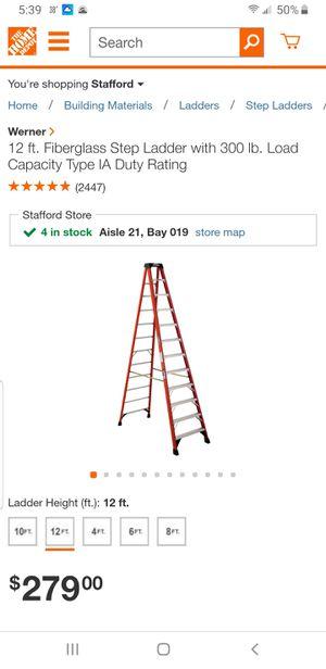 Werner 12ft Ladder 300lb for Sale in Triangle, VA