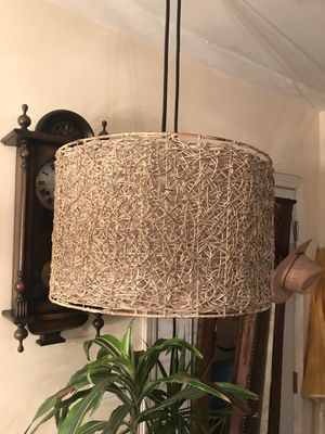 Wicker Straw Wooden mesh Chandelier for Sale in Santa Monica, CA