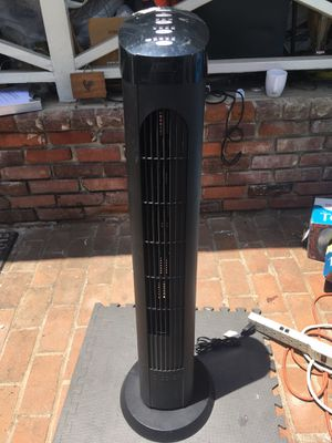 """Cascade Blackstone 40"""" Electric Tower Fan S00001 (TF40-18) and OSCILLATES 30 Tested and working perfectly. Will demonstrate for you all features be for Sale in Lemon Grove, CA"""