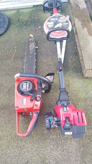 Homelite 330 chainsaw and troy-built weed trimmer for Sale in Mount Angel, OR