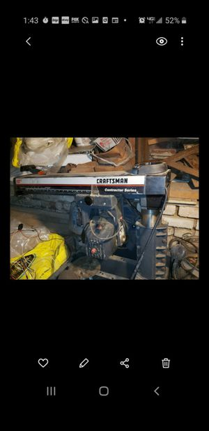 Craftsman contractor series table saw for Sale in Cleveland, OH