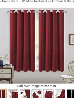 FLOWEROOM Blackout Curtains Thermal Insulated Draperies with Grommet for Bedroom, Black, 52 by 63 inch, Set of 2 for Sale in Washington,  DC