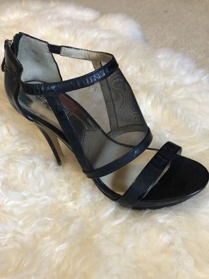 Black Michael Kors high-heeled shoe size 7 1/2 for Sale in Land O Lakes, FL