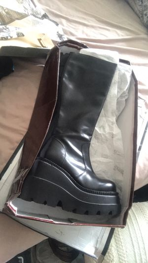 Black Knee High Boots/ Rave/ Club/ Work/ Bartend/ Waitress/ Boots for Sale in Fort Lauderdale, FL