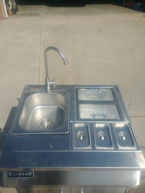 Jenn air out door portable sink with food compartments for ...