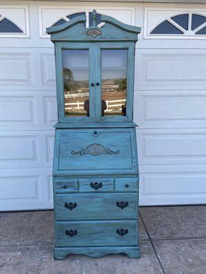 Vintage Secretary Desk with top Hutch for Sale in El Cajon, CA