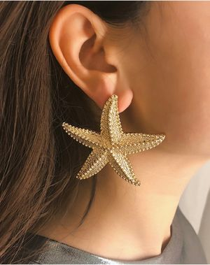 Fashion Shiny Ocean Sea Starfish Earrings For Women, Gold Color for Sale in Tustin, CA