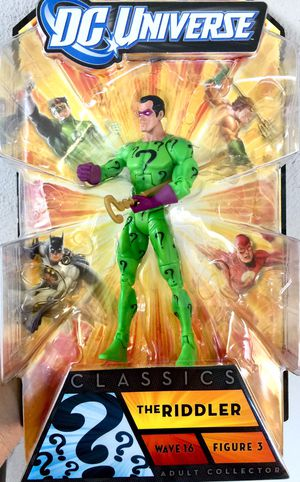 The Riddler DC UNIVERSE CLASSIC WAVE 16 ACTION FIGURE for Sale in Encinal, TX