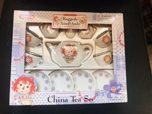 Children's Raggedy Ann & Andy China Tea Set for Sale in Fort Lauderdale, FL