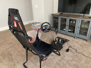 Racing seat and pedals for ps3/4/5 for Sale in Madera, CA