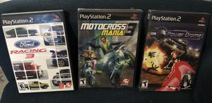 PS2 Games: Motocross (NewSealed)/ Power Drome (NewSealed)/ Ford Racing 3 (Used) for Sale in Zolfo Springs, FL