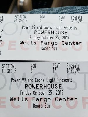 Power House Tickets Front Row for Sale in Philadelphia, PA