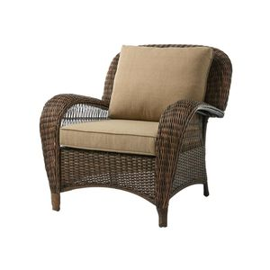 New Hampton Bay Beacon Park Brown Wicker Outdoor Patio Stationary Lounge Chair with Standard Toffee Cushions ☆Pick up only☆ for Sale in Phoenix, AZ
