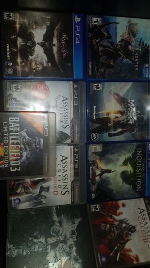 Ps4 and ps3 games lot for Sale in City of Industry, CA