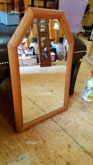 17 x 27.5 Wood Framed Beveled Wall Mirror for Sale in Knightdale, NC