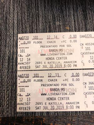 Banda MS tickets for Sale in Whittier, CA