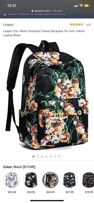 Backpack water resistant for Sale in River Rouge, MI