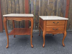 2 - Marble Top End / Side Tables for Sale in Wenatchee, WA