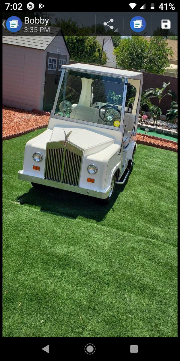 Royal ride rolls Royce golf cart