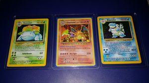 Pokemon cards charizard ,venasaur,blastoise for Sale in Houston, TX