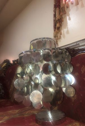 Girls sequined bed side table lamp for Sale in Detroit, MI
