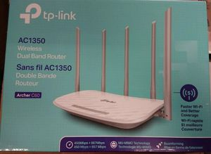 TP-Link Archer C60 Ac1350 Wireless Dual Band Router (White) for Sale in Santa Ana, CA