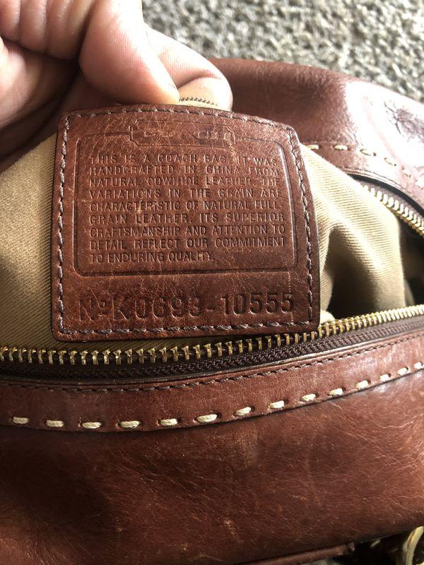 Coach Hamptons Vintage Leather Andrea Satchel Fatigue /brown/#K0693-10555