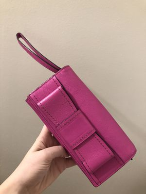 Kate Spade Bow Wristlet / Clutch neon pink fuchsia for Sale in Denver, CO