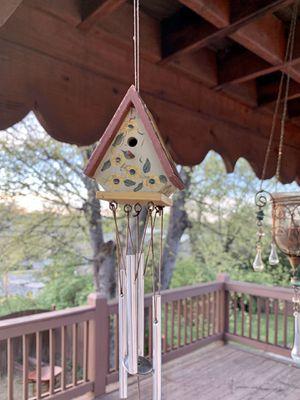 Vintage HandPainted & Signed Wooden Birdhouse Wind Chime for Sale in Nashville, TN