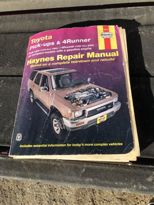 Toyota's pick up 4 Runner Haynes repair book for Sale in Anaheim, CA