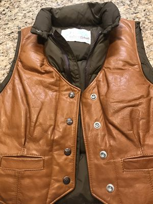 Women's Vintage 80s Scott Down and Leather Vest- Size Small for Sale in High Point, NC