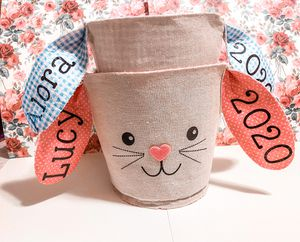 Personalized Easter bunny basket custom for Sale in St. Cloud, MN