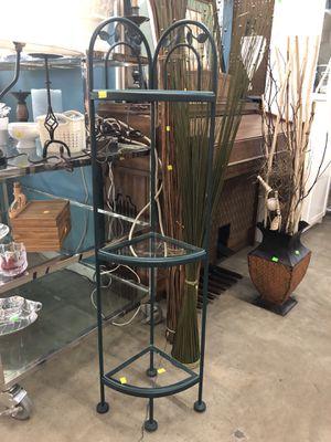 "3 Tier Teal Glass Corner Shelf (48"" tall) for Sale in Austin, TX"