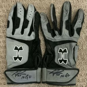 Pittsburgh Pirates ROOKIE Gregory Polanco Autographed Game Used Baseball Batting Gloves COA for Sale in Cranberry Township, PA