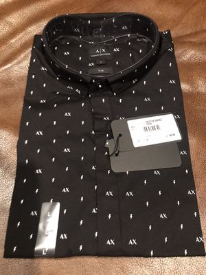 Armani exchange button up shirt XL and Large slim new men Gucci 35$ for Sale in Austin, TX