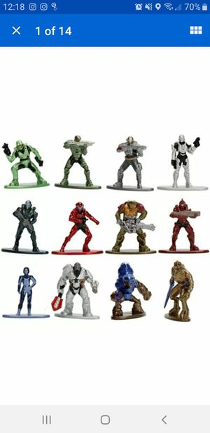 HALO NANO METALFIGS 100% DIE CAST METAL COLLECTION ACTION FIGURES 1.5 for Sale in Homestead, FL