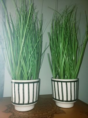 2 Faux Grass Plant Pots for Sale in Los Angeles, CA
