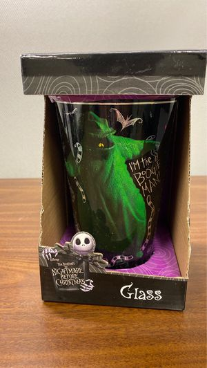 Nightmare before Christmas glass- oogie boogie for Sale in Baton Rouge, LA