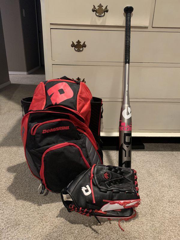 DeMarini softball setup