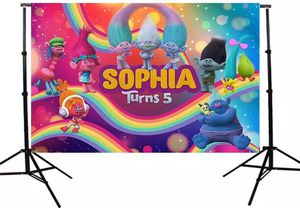 Trolls Birthday Backdrop- 5x7ft for Sale in Charlotte, NC
