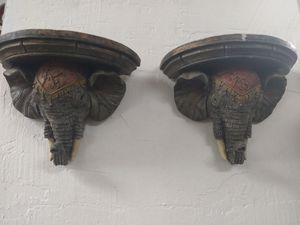 Indian elephant ornate wall sconce/shelves for Sale in Oceanside, CA