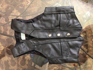 Harley Davidson leather toddler vest for Sale in Middle River, MD